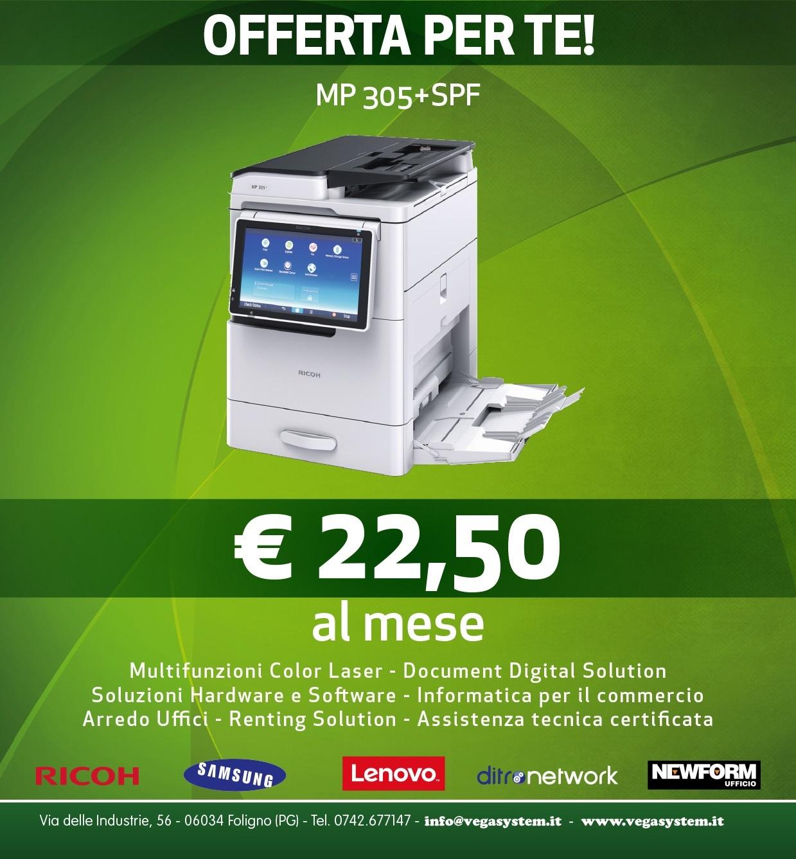 vendita-noleggio-stampanti-umbria-offerta-ricohmp305spf